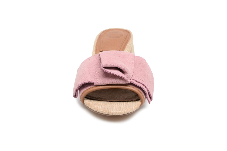 Mules et sabots Gioseppo Kelcel Rose vue portées chaussures