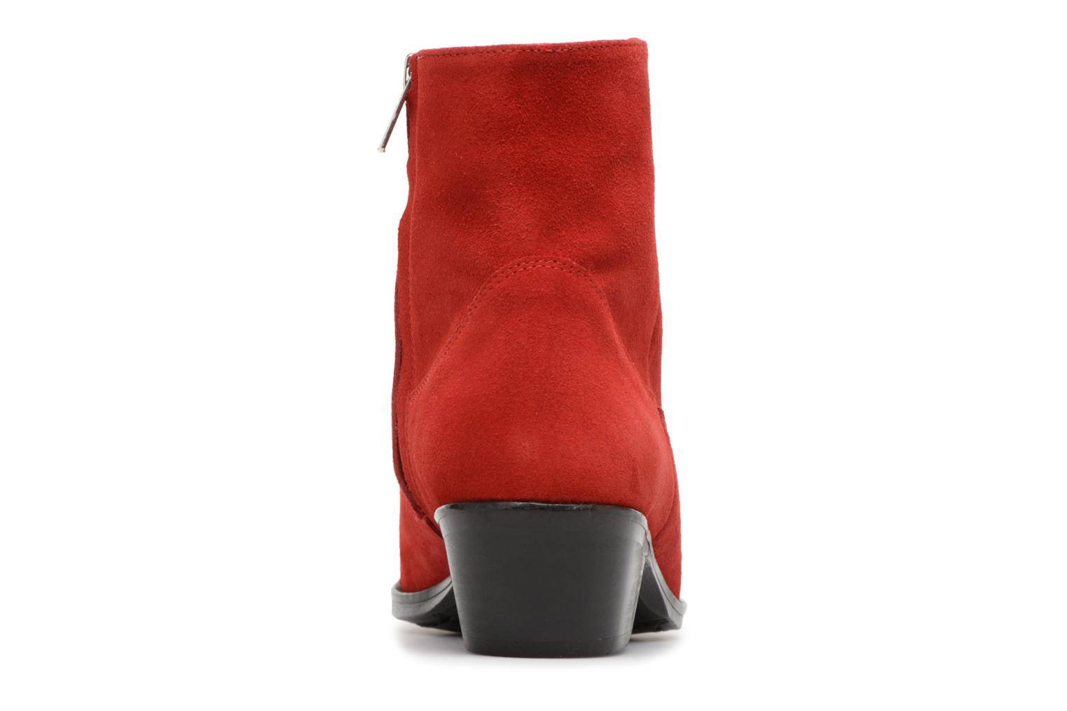 Ankle boots Valentine Gauthier Keith Red view from the right