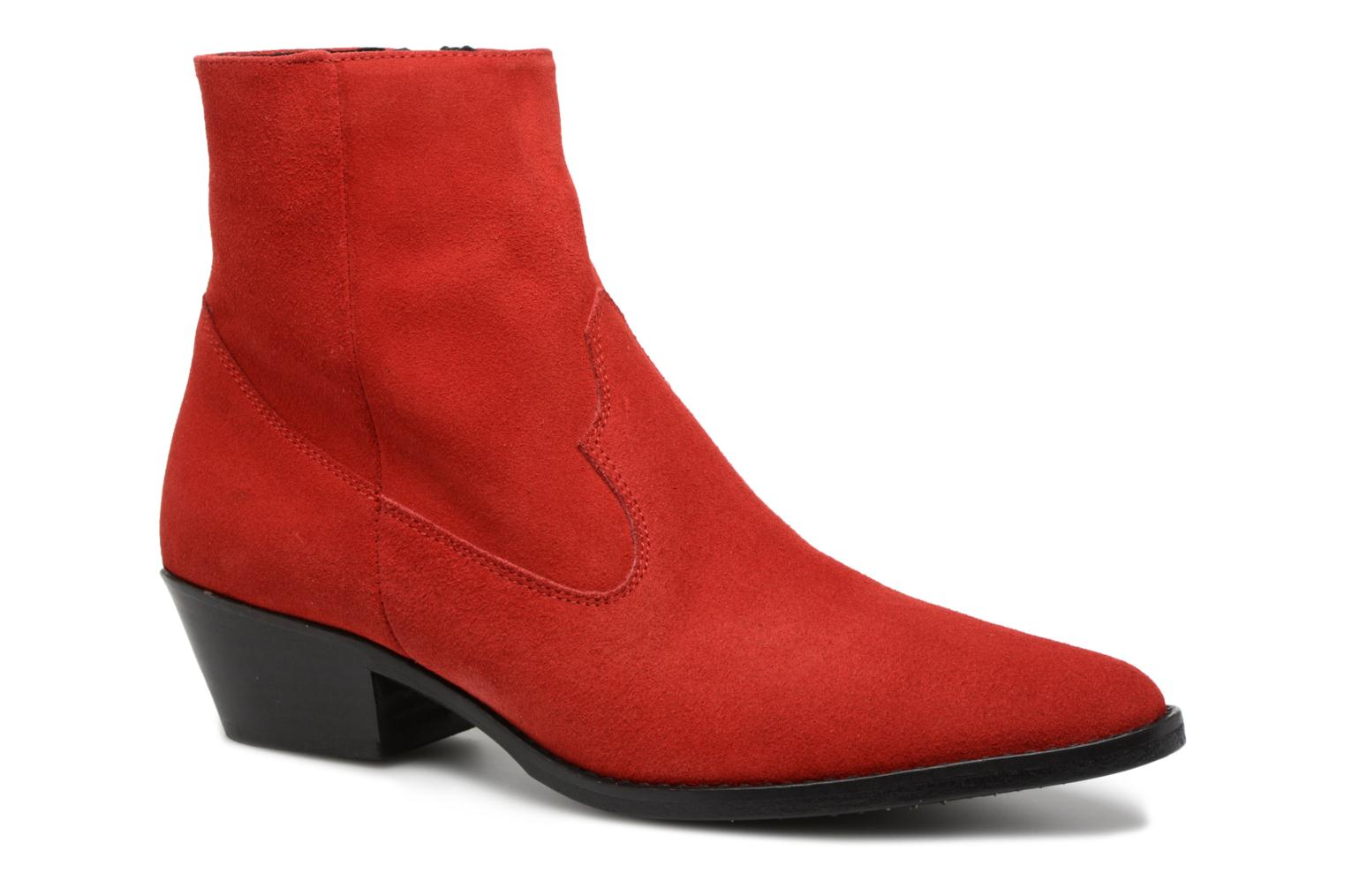 Ankle boots Valentine Gauthier Keith Red detailed view/ Pair view