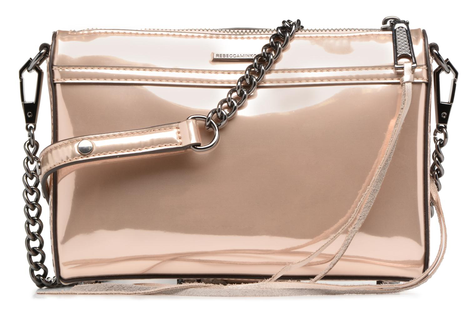 Sacs à main Rebecca Minkoff MIRRORED METALLIC MINI MAC Or et bronze vue face