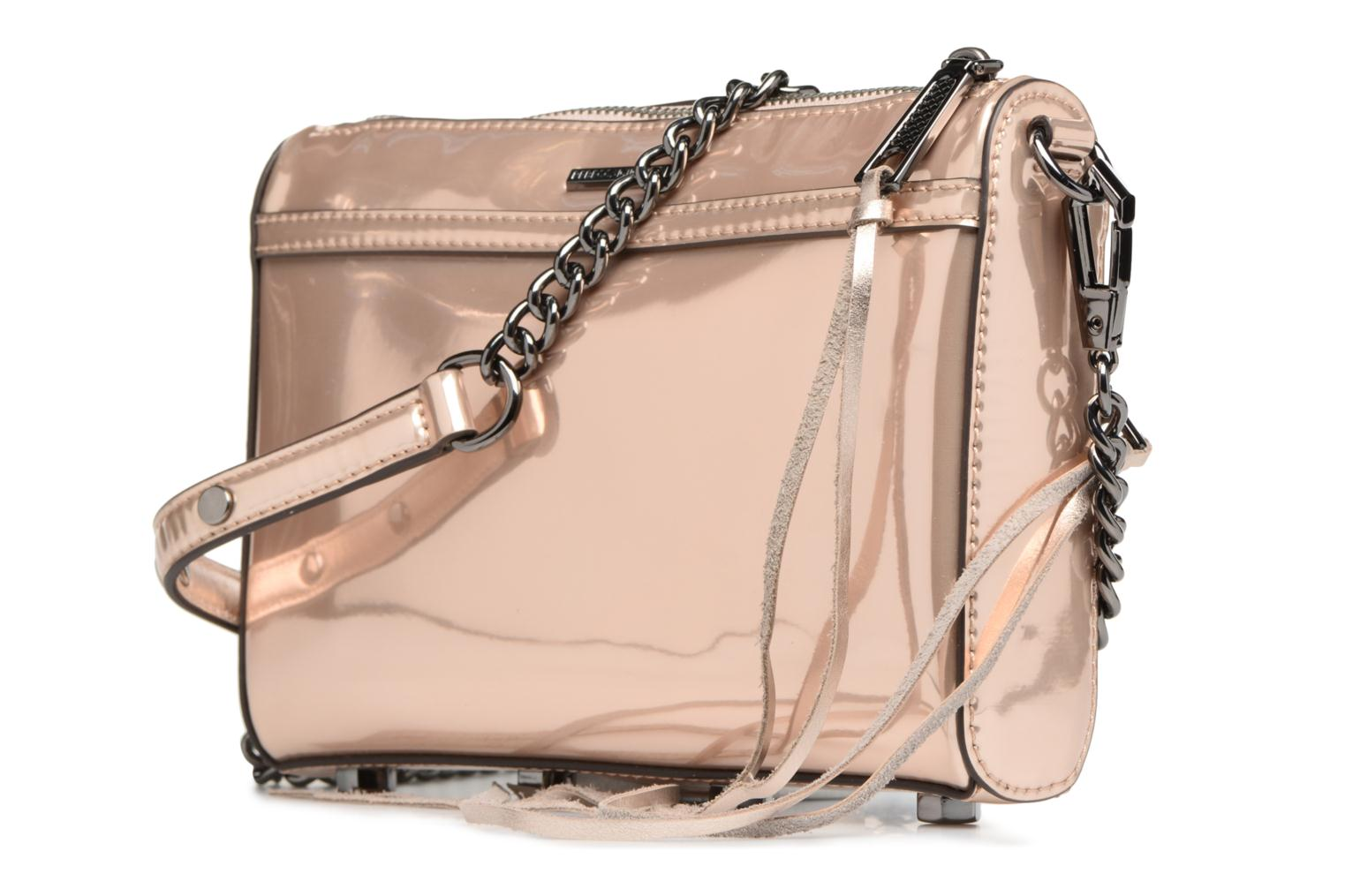 Sacs à main Rebecca Minkoff MIRRORED METALLIC MINI MAC Or et bronze vue droite