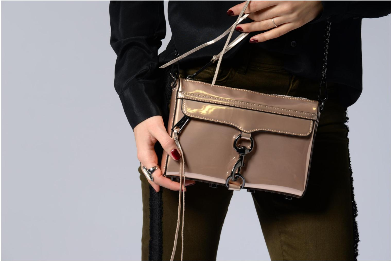 Handtaschen Rebecca Minkoff MIRRORED METALLIC MINI MAC gold/bronze ansicht von oben