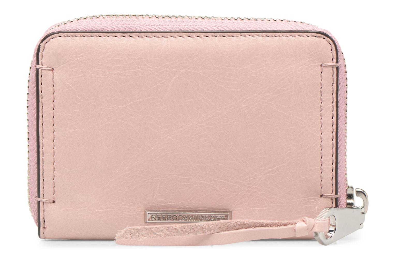 Kleine lederwaren Rebecca Minkoff MINI REGAN ZIP WALLET Roze voorkant