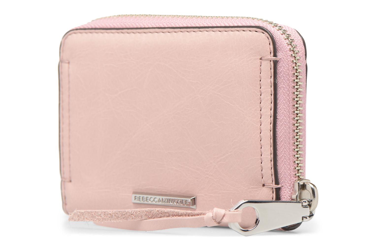 Kleine lederwaren Rebecca Minkoff MINI REGAN ZIP WALLET Roze rechts