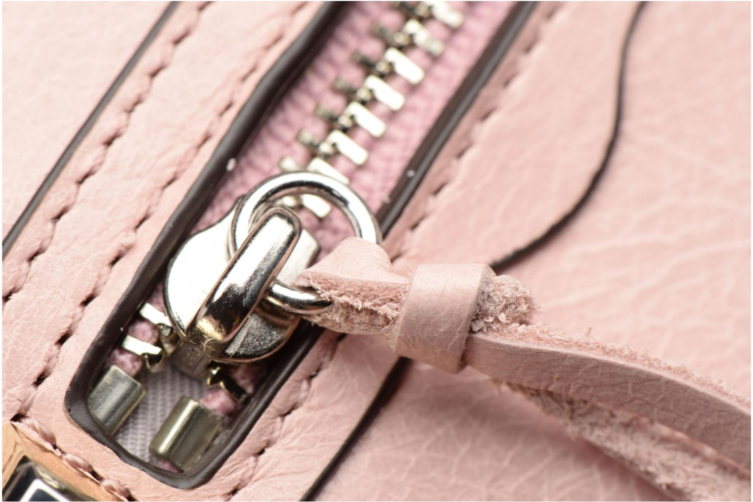 Kleine lederwaren Rebecca Minkoff MINI REGAN ZIP WALLET Roze links