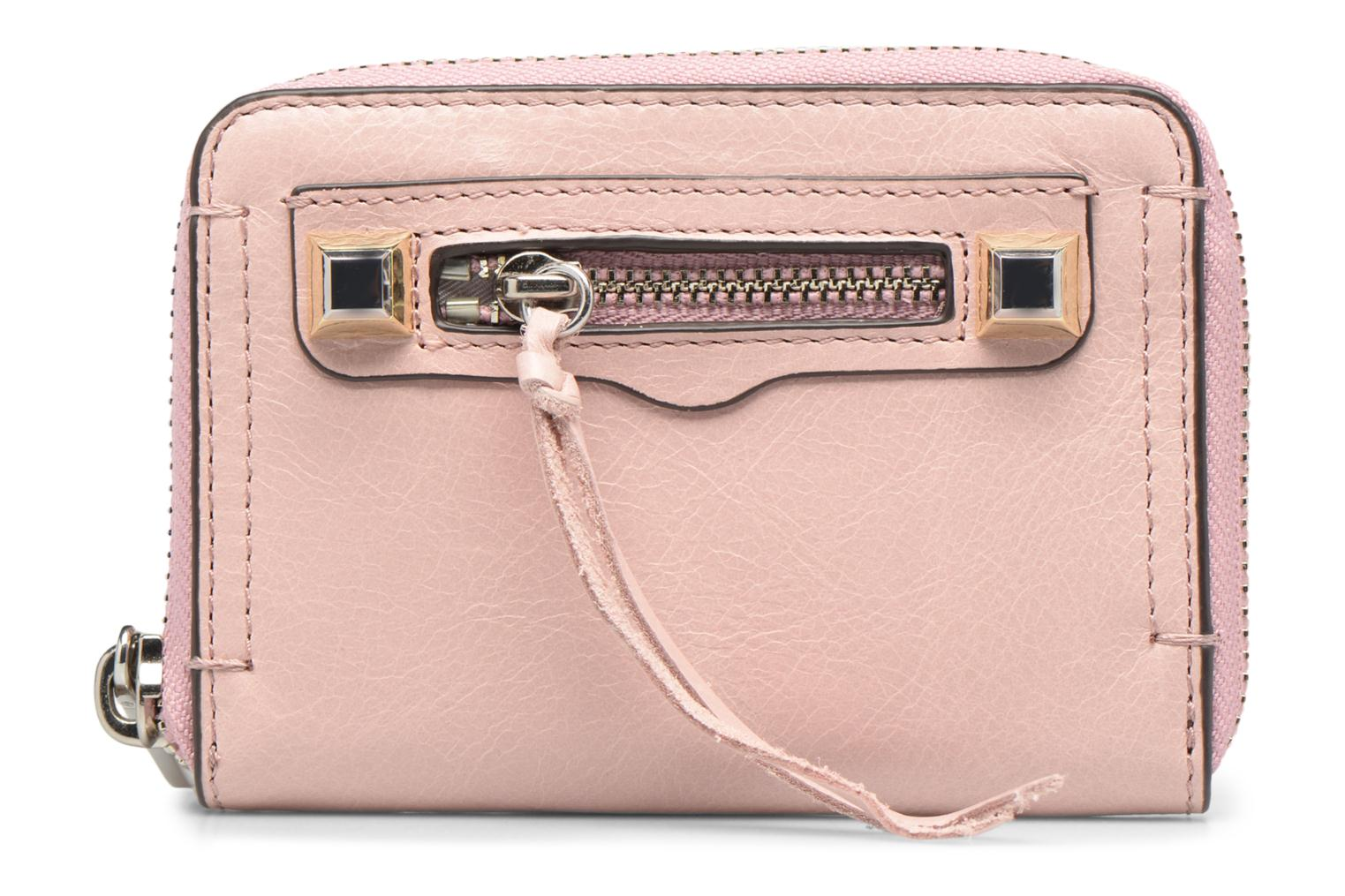 Kleine lederwaren Rebecca Minkoff MINI REGAN ZIP WALLET Roze detail