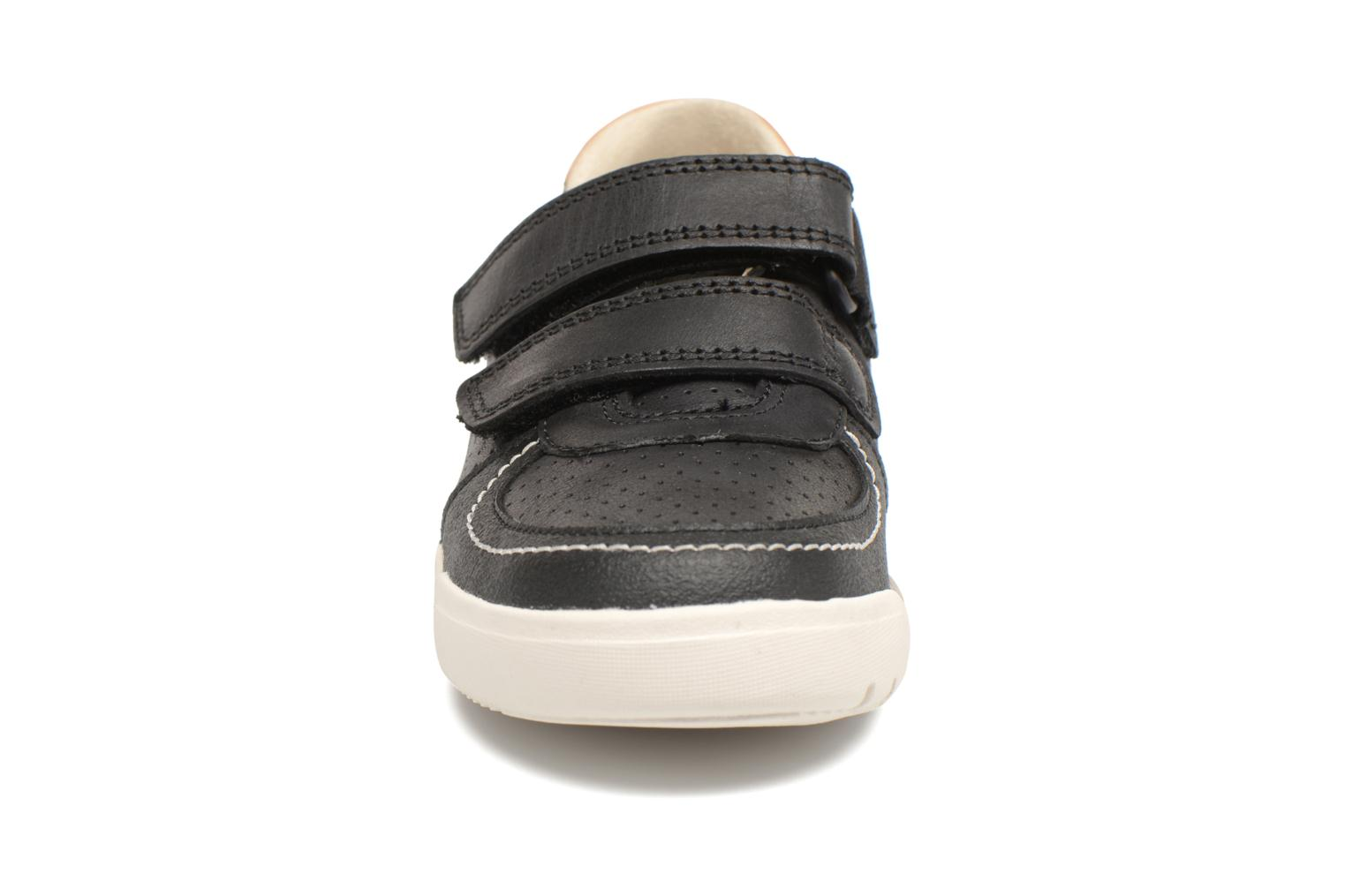 Black leather Clarks Mini Ezra (Noir)