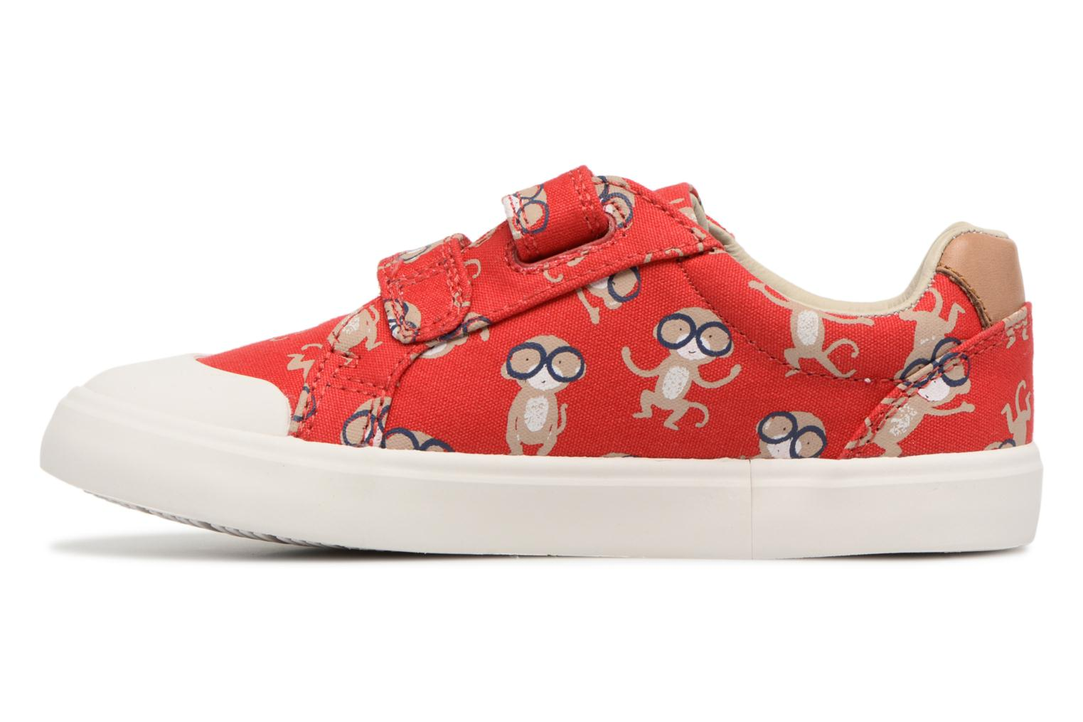 Trainers Clarks Comic Air Red front view