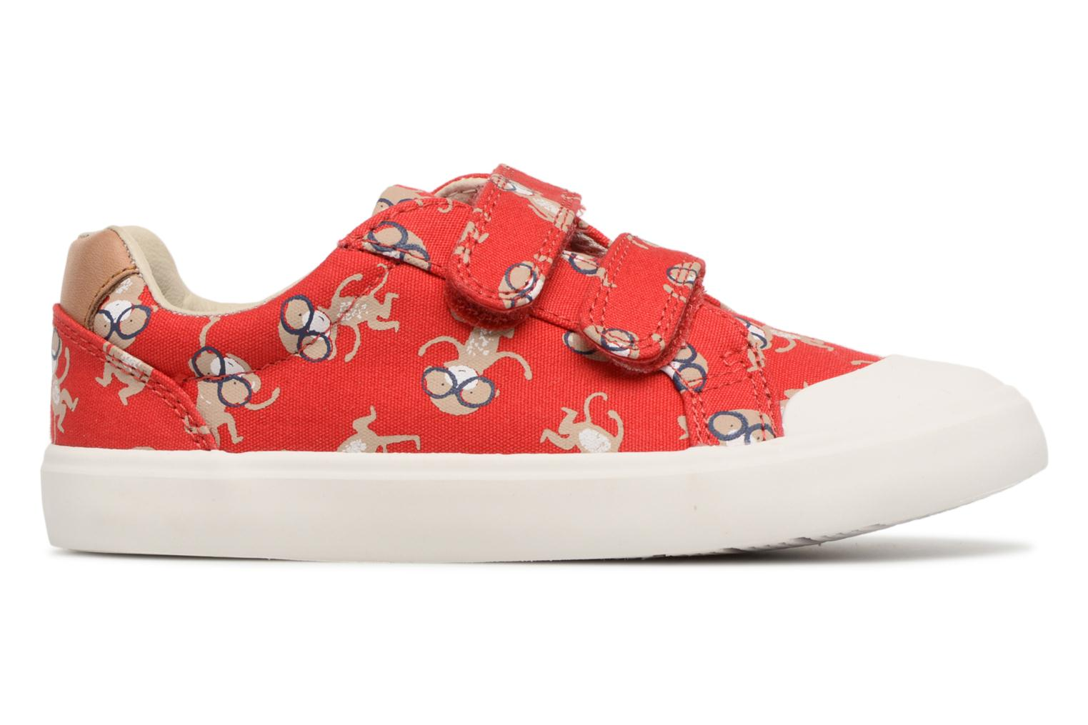 Trainers Clarks Comic Air Red back view