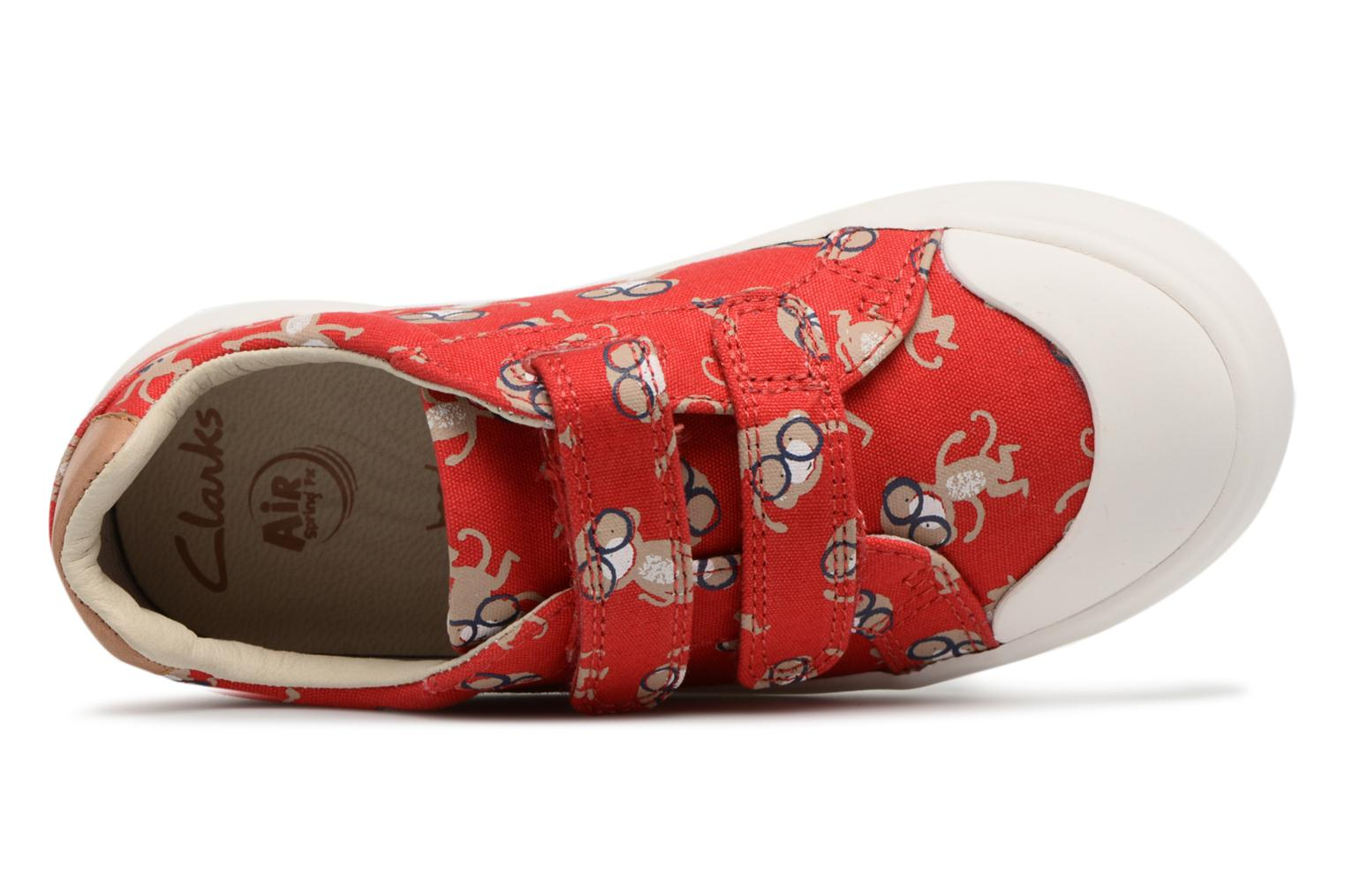 Trainers Clarks Comic Air Red view from the left