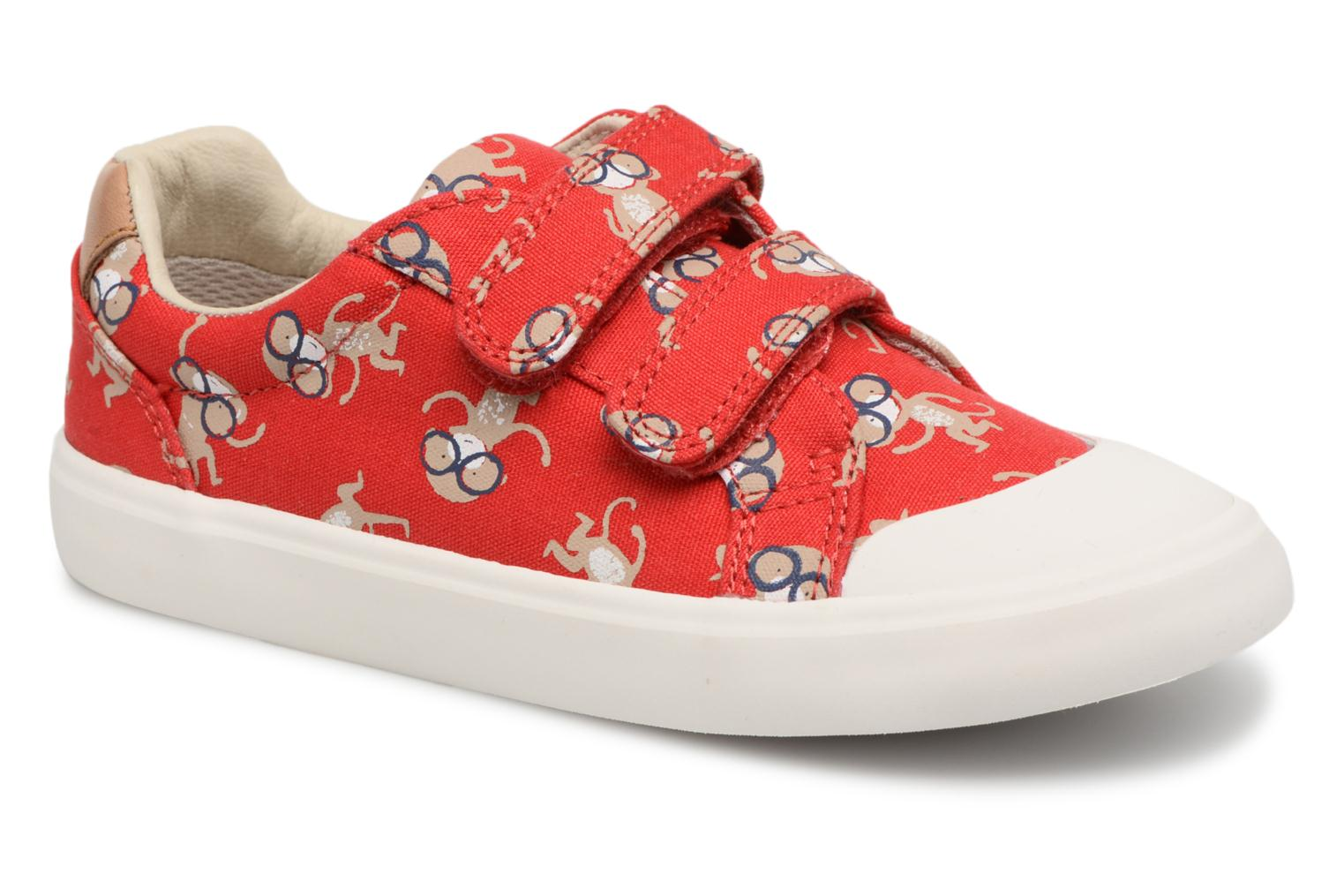 Trainers Clarks Comic Air Red detailed view/ Pair view