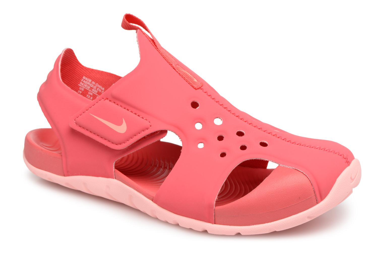 Sandals Nike Nike Sunray Protect 2 (Ps) Pink detailed view/ Pair view