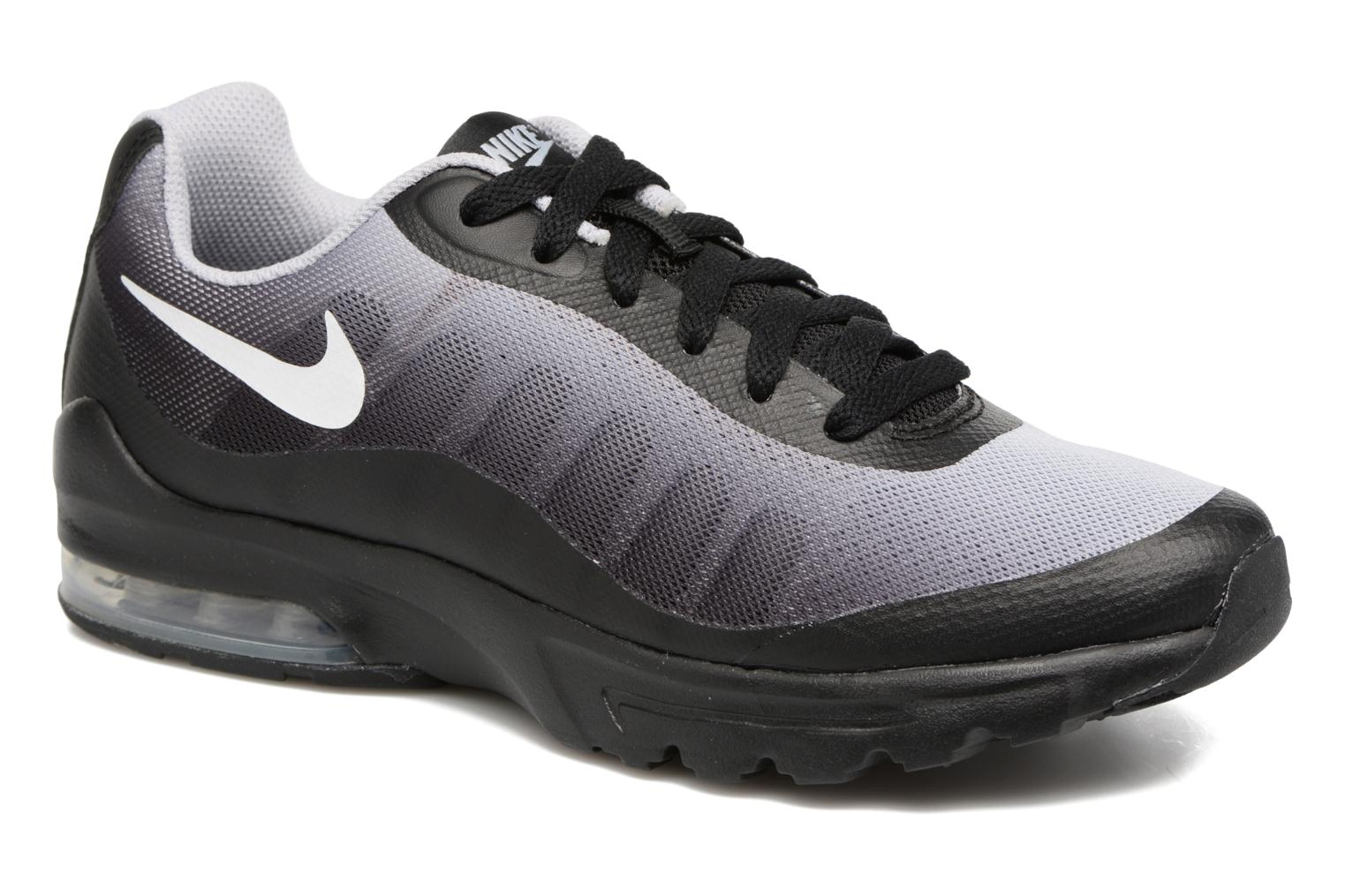 Air Max Invigor Print (Gs) Black/White-Wolf Grey