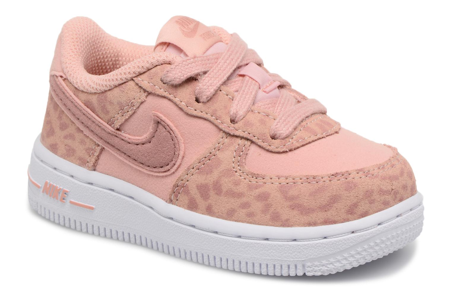 Nike Force 1 Lv8 (Td) Coral Stardust/Rust Pink-White