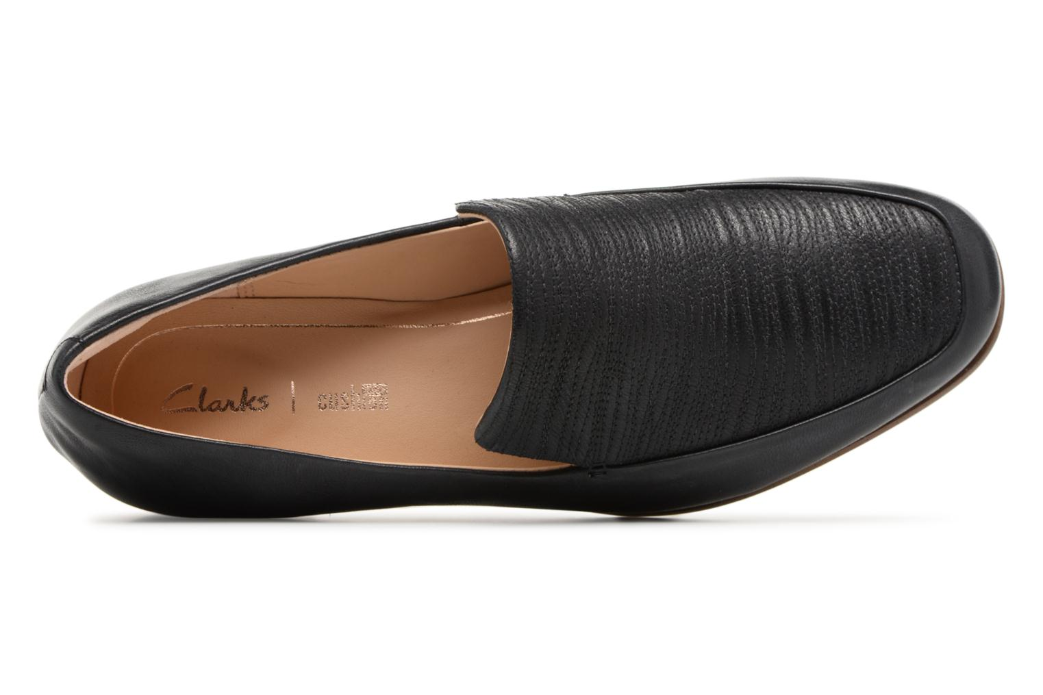 Loafers Clarks Pure Sense Black view from the left