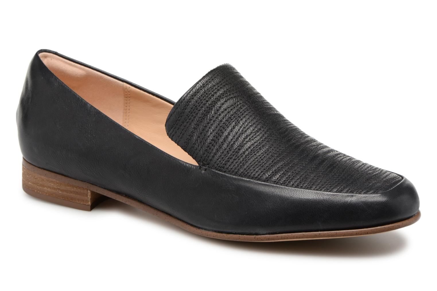 Loafers Clarks Pure Sense Black detailed view/ Pair view