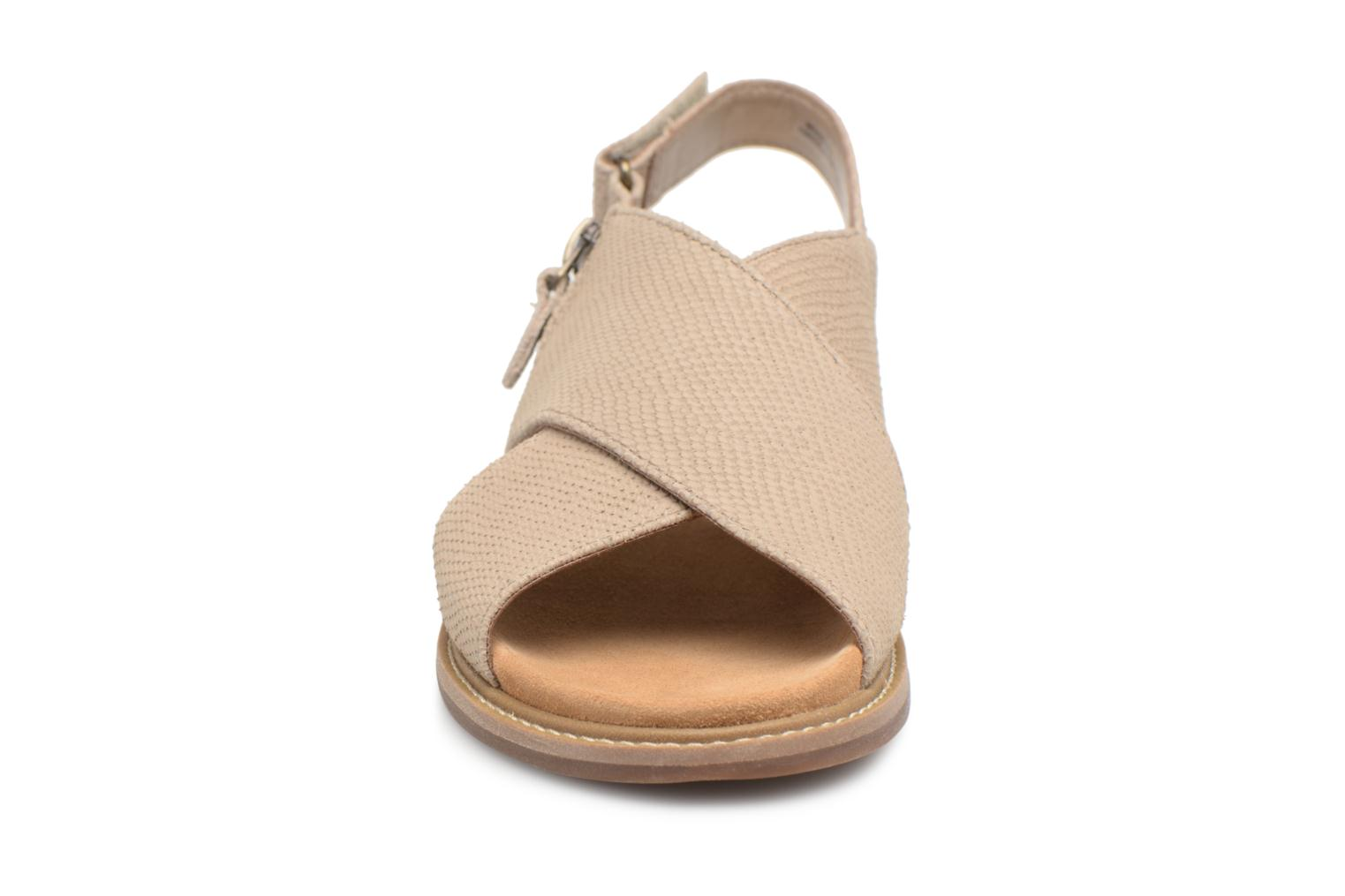 Sandals Clarks Corsio Calm Beige model view