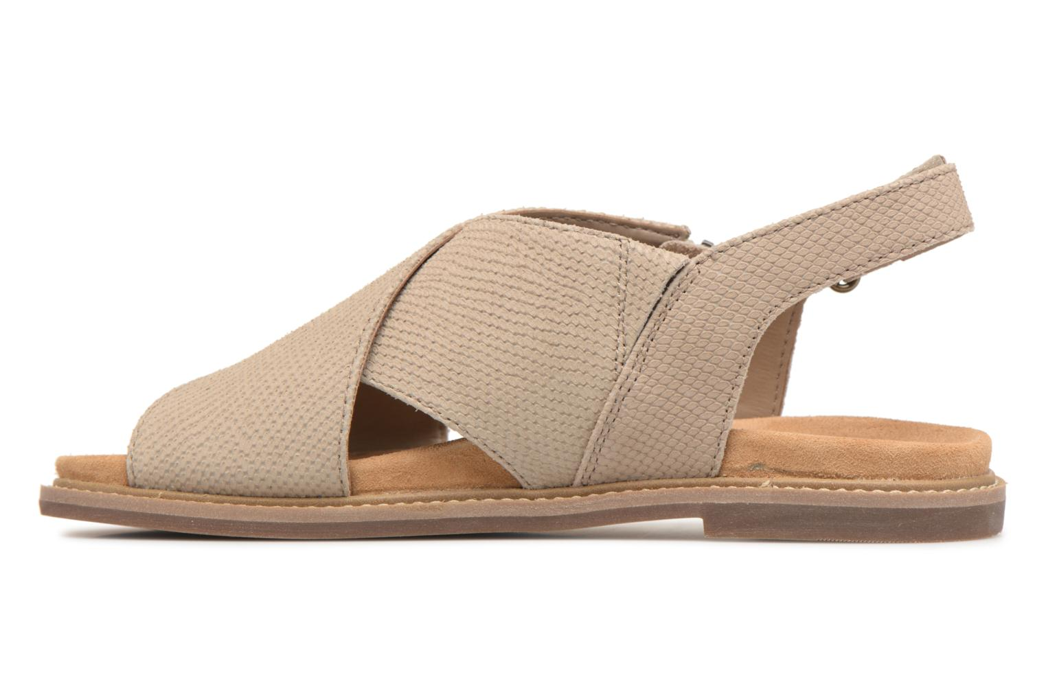 Sandals Clarks Corsio Calm Beige front view