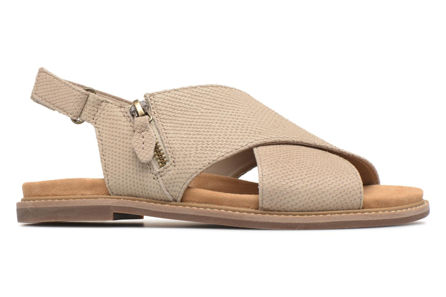 Sandals Clarks Corsio Calm Beige back view