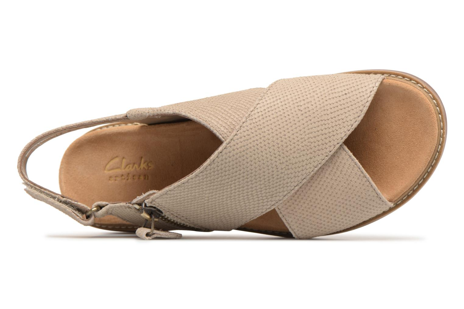Sandals Clarks Corsio Calm Beige view from the left