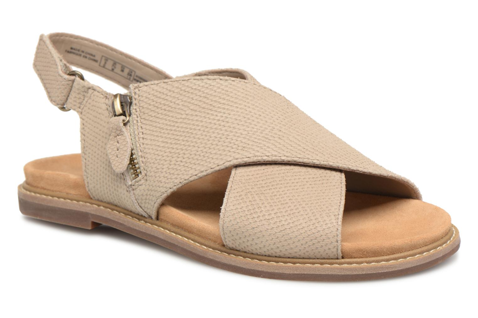 Sandals Clarks Corsio Calm Beige detailed view/ Pair view