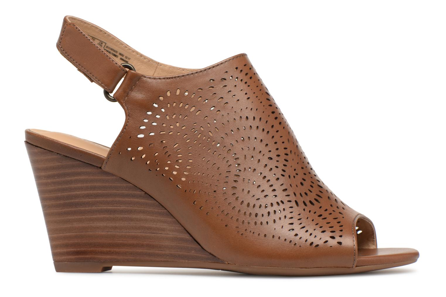 Sandals Clarks Raven Dawn Brown back view