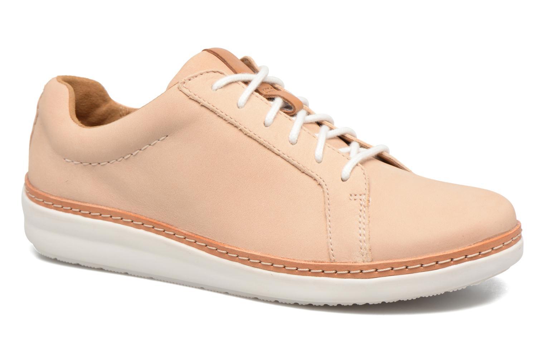 Chaussures à lacets Clarks Amberlee Rosa Beige vue détail/paire