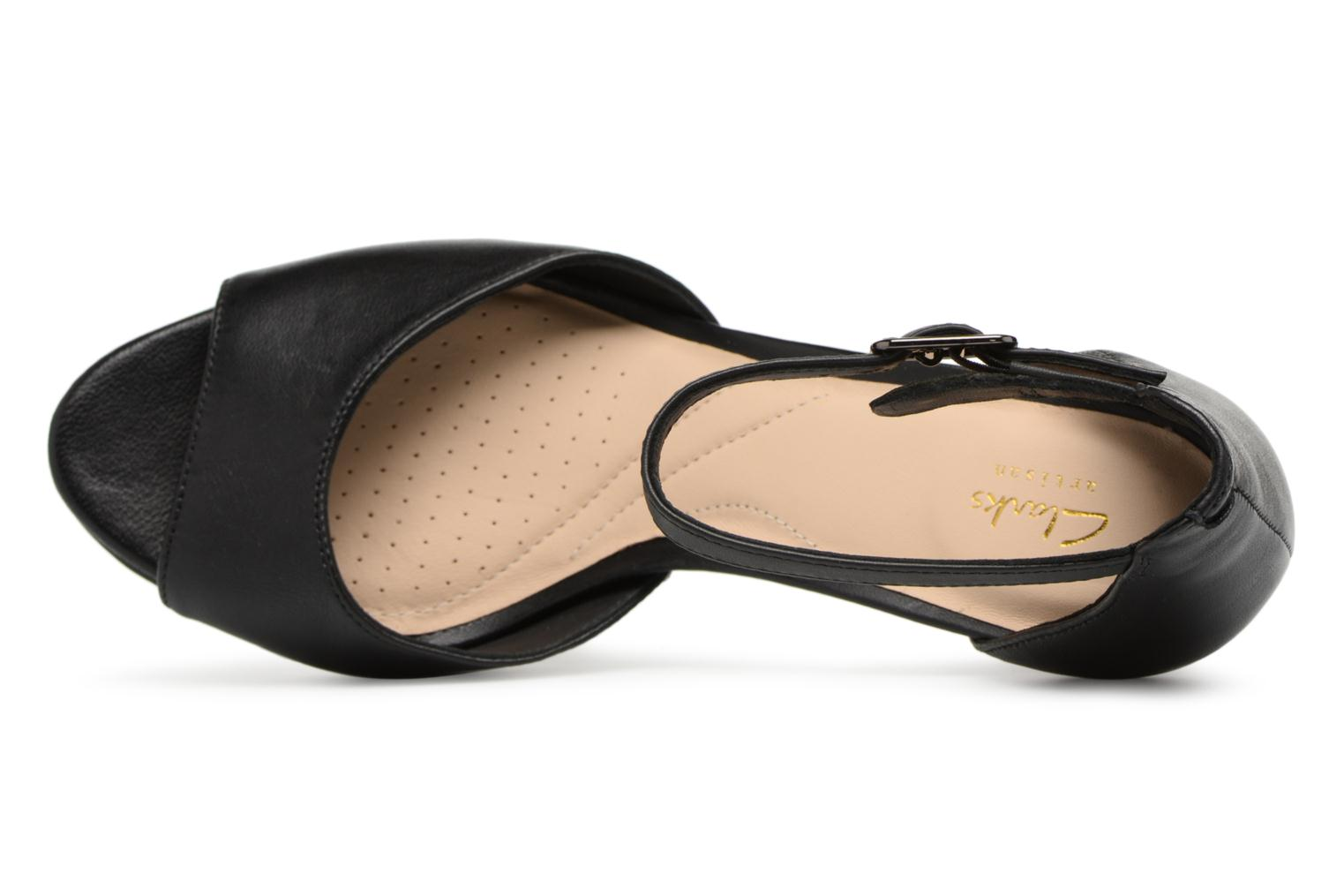 Sandals Clarks Mayra Dove Black view from the left