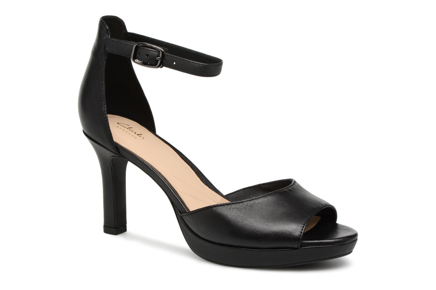 Sandals Clarks Mayra Dove Black detailed view/ Pair view