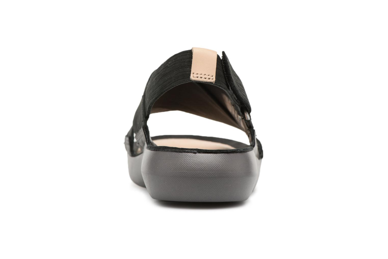 Sandals Clarks Tri Chloe Black view from the right