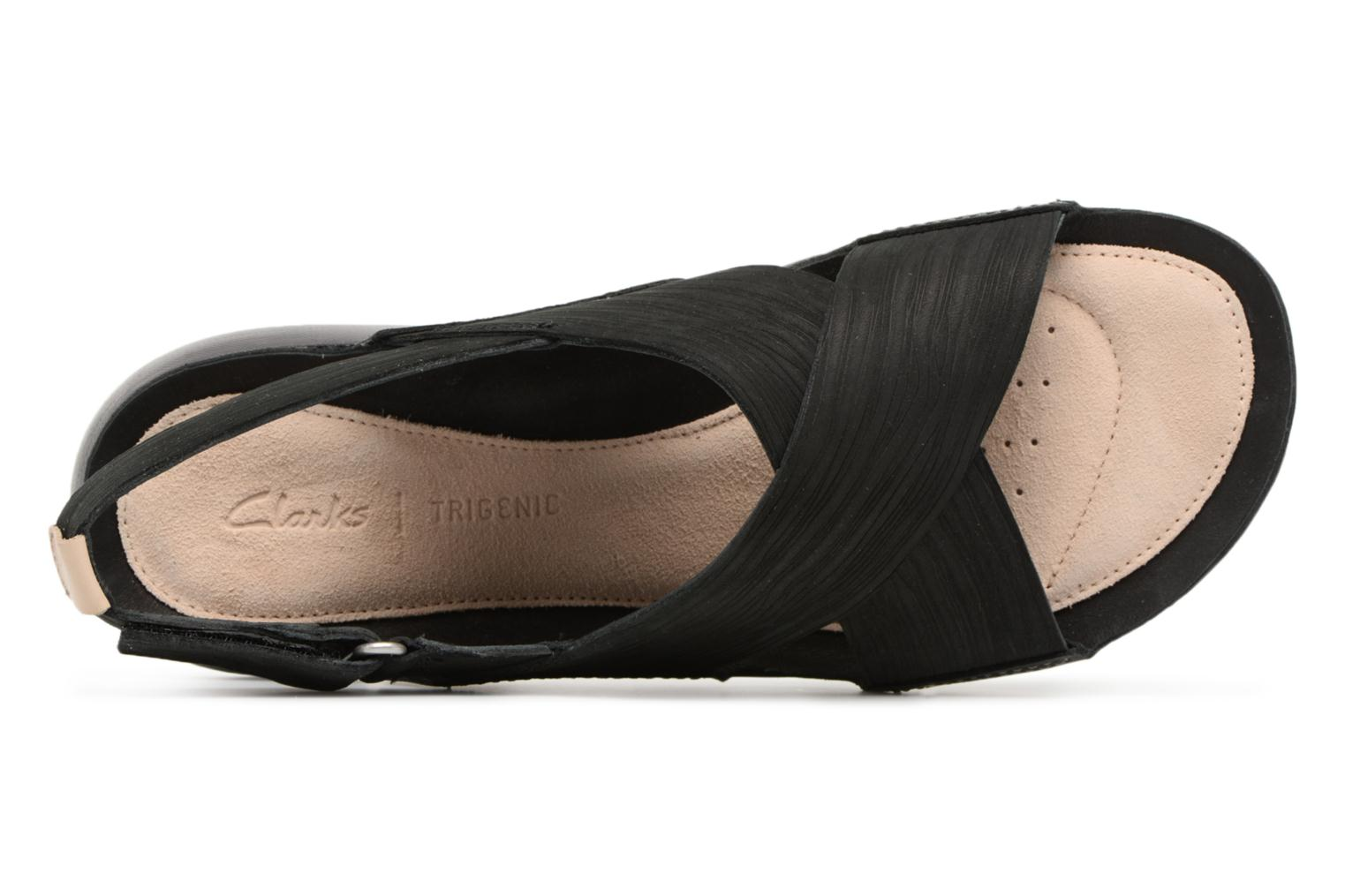 Sandals Clarks Tri Chloe Black view from the left