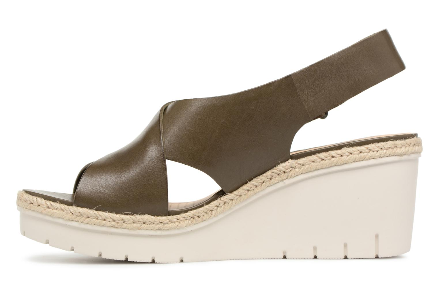 Sandals Clarks Palm Glow Green front view