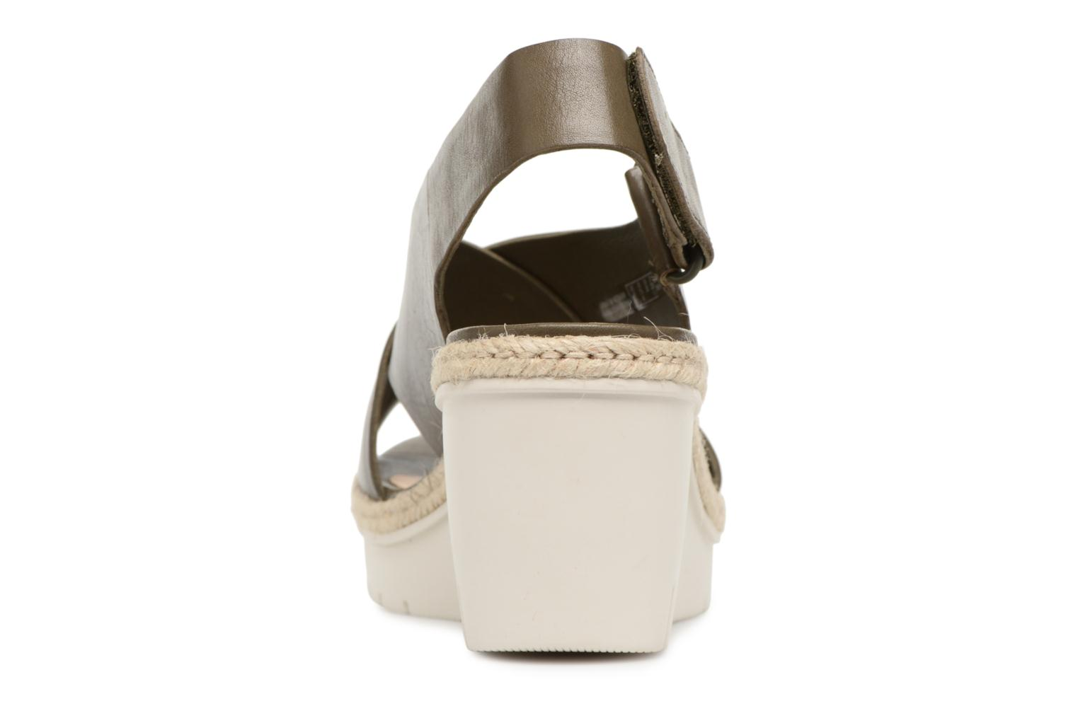 Sandals Clarks Palm Glow Green view from the right
