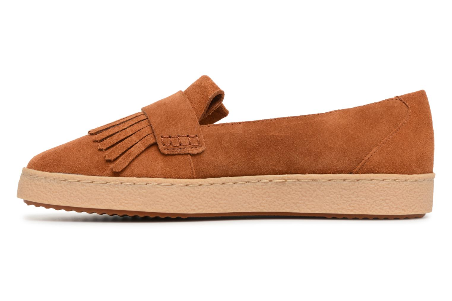 Loafers Clarks Lillia Lottie Brown front view