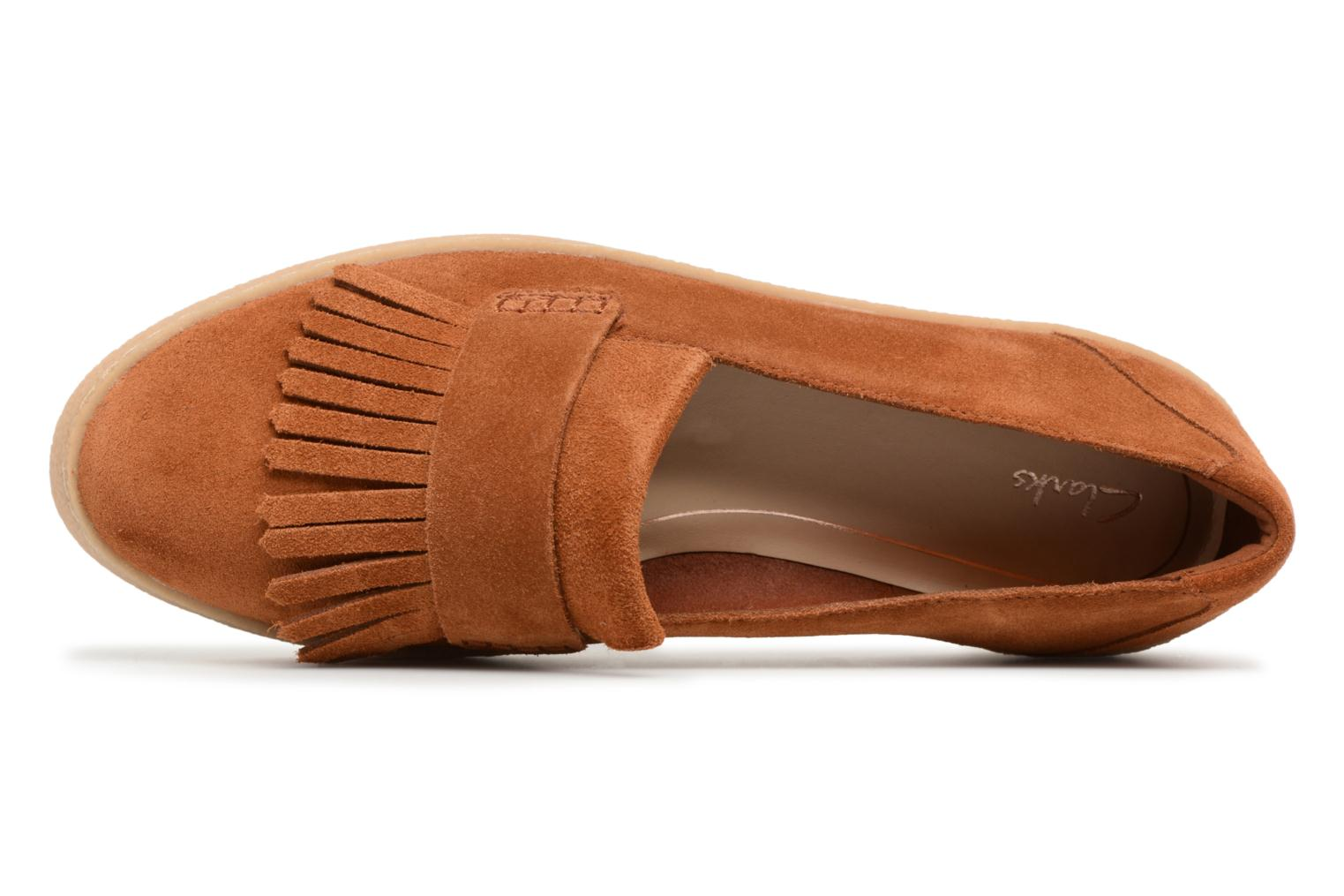 Loafers Clarks Lillia Lottie Brown view from the left