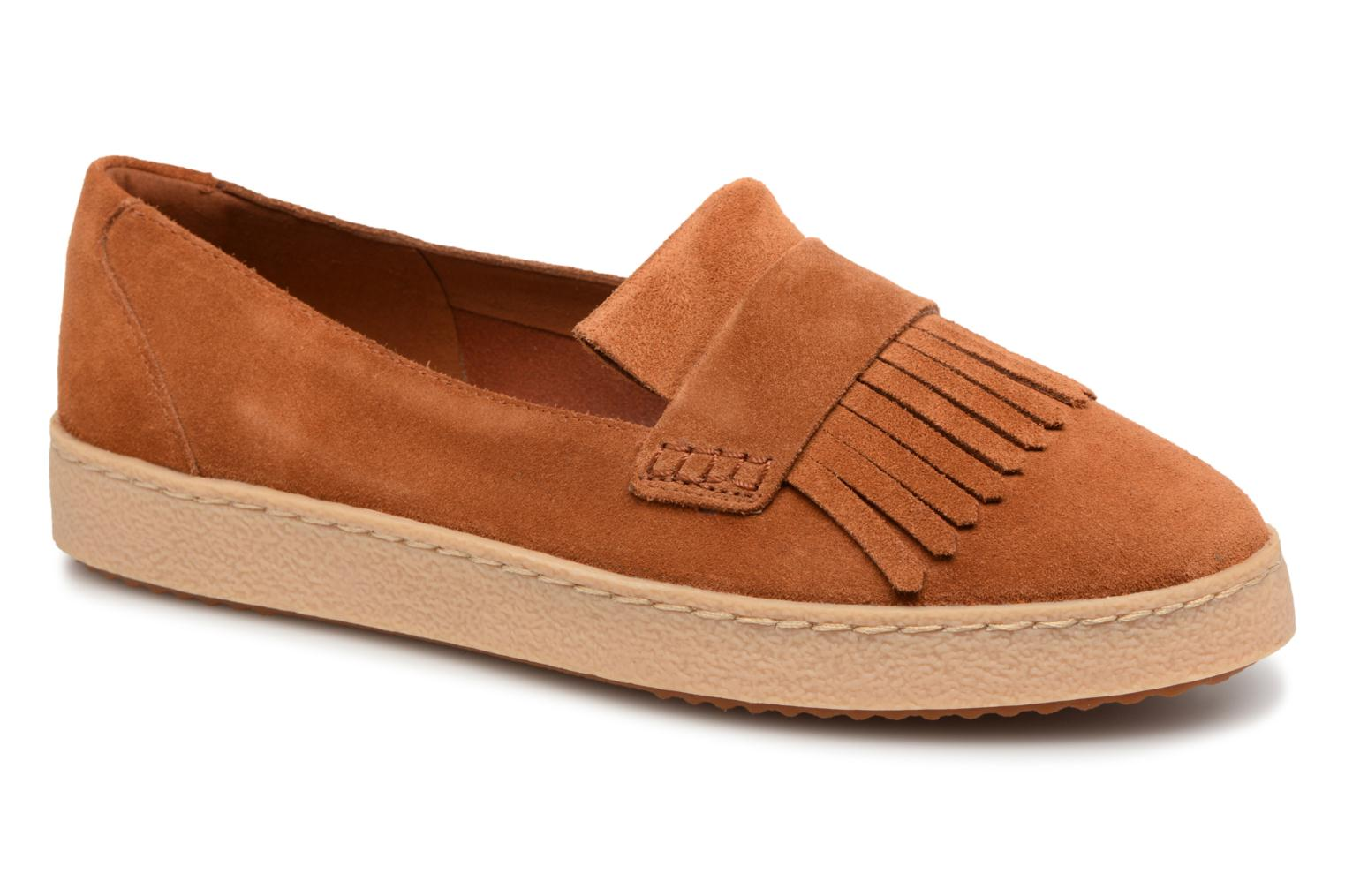 Loafers Clarks Lillia Lottie Brown detailed view/ Pair view