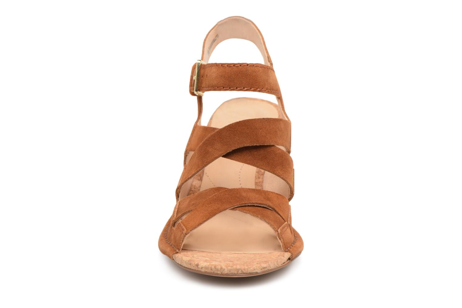 Sandals Clarks Spiced Ava Brown model view