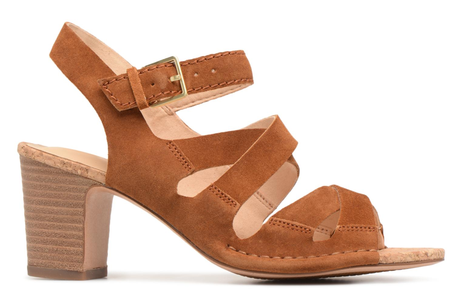 Sandals Clarks Spiced Ava Brown back view