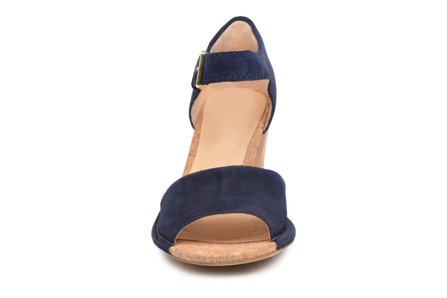 Sandals Clarks Spiced Olivia Blue model view