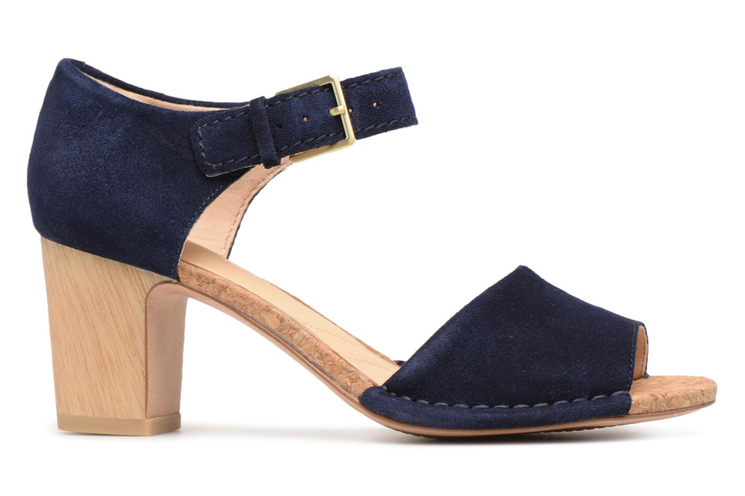 Sandals Clarks Spiced Olivia Blue back view