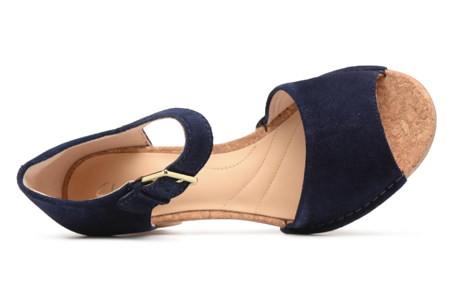 Sandals Clarks Spiced Olivia Blue view from the left