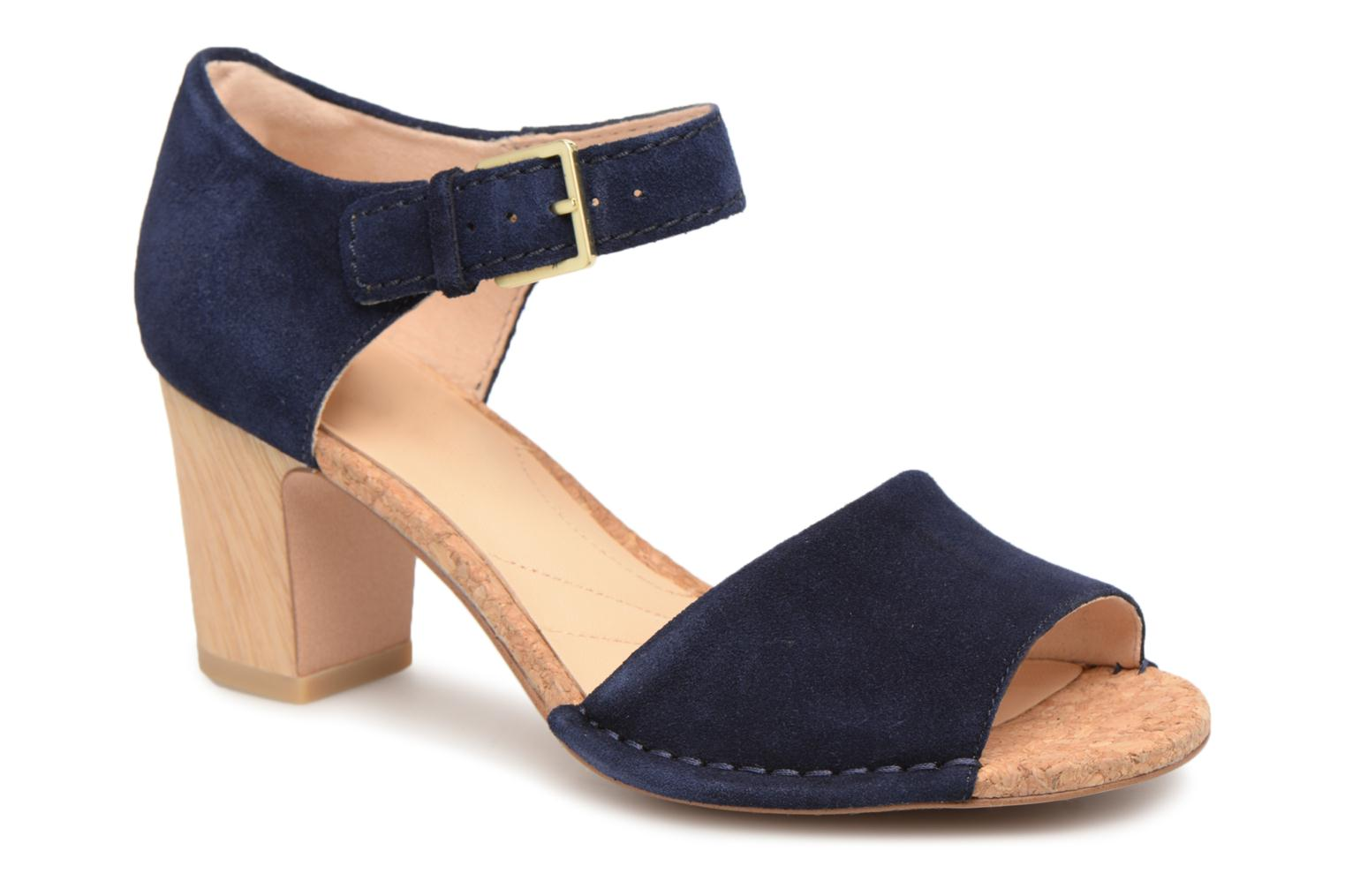 Marques Chaussure femme Clarks femme Spiced Olivia Navy Suede