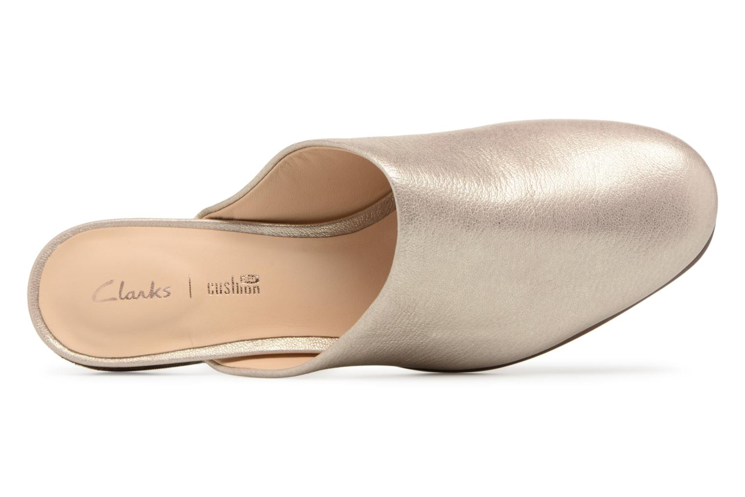 Mules & clogs Clarks Pure Blush Bronze and Gold view from the left