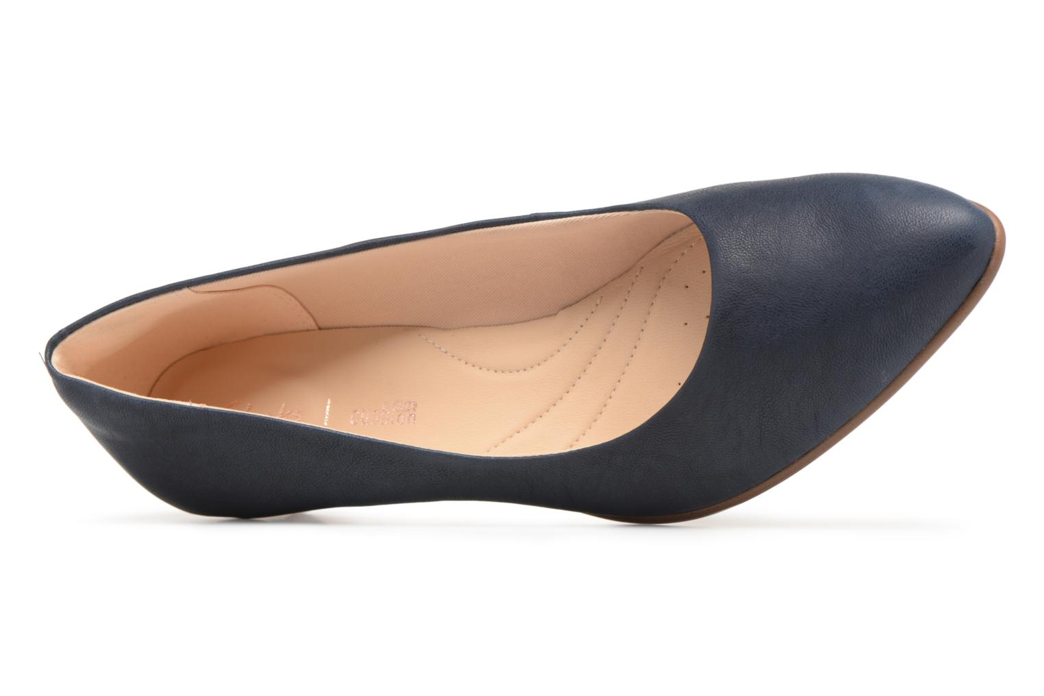 High heels Clarks Mena Bloom Blue view from the left