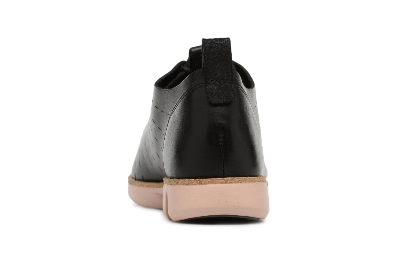Tri Etch Black leather