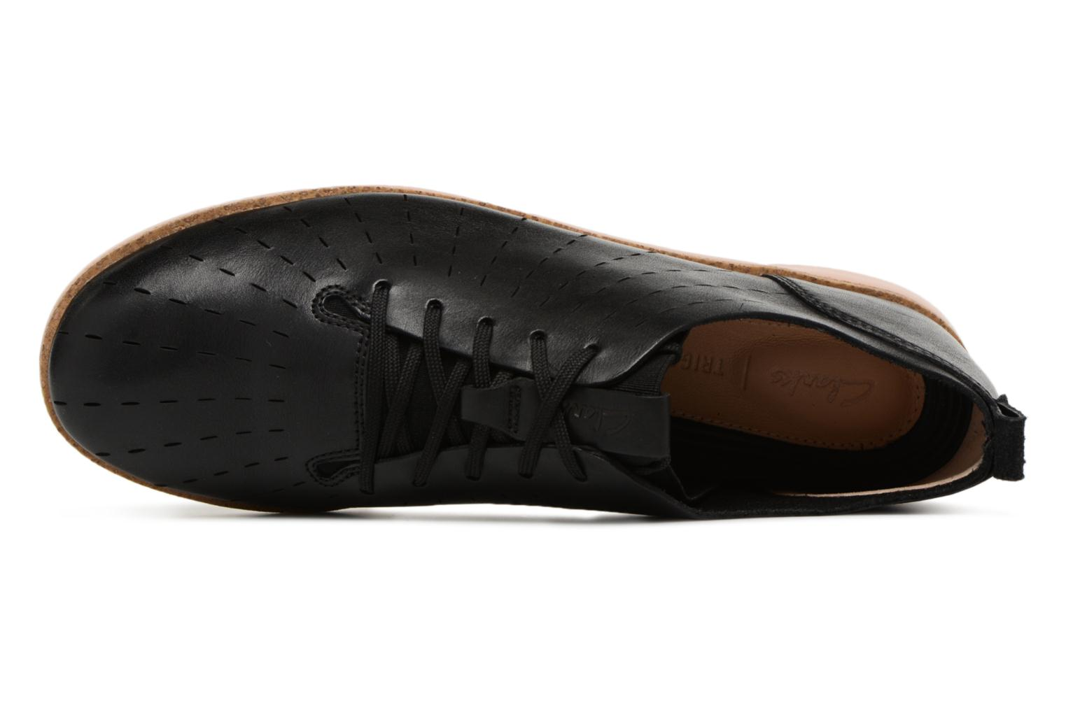 Lace-up shoes Clarks Tri Etch Black view from the left