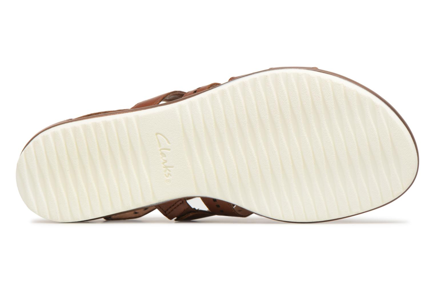 Sandals Clarks Kele lotus Brown view from above