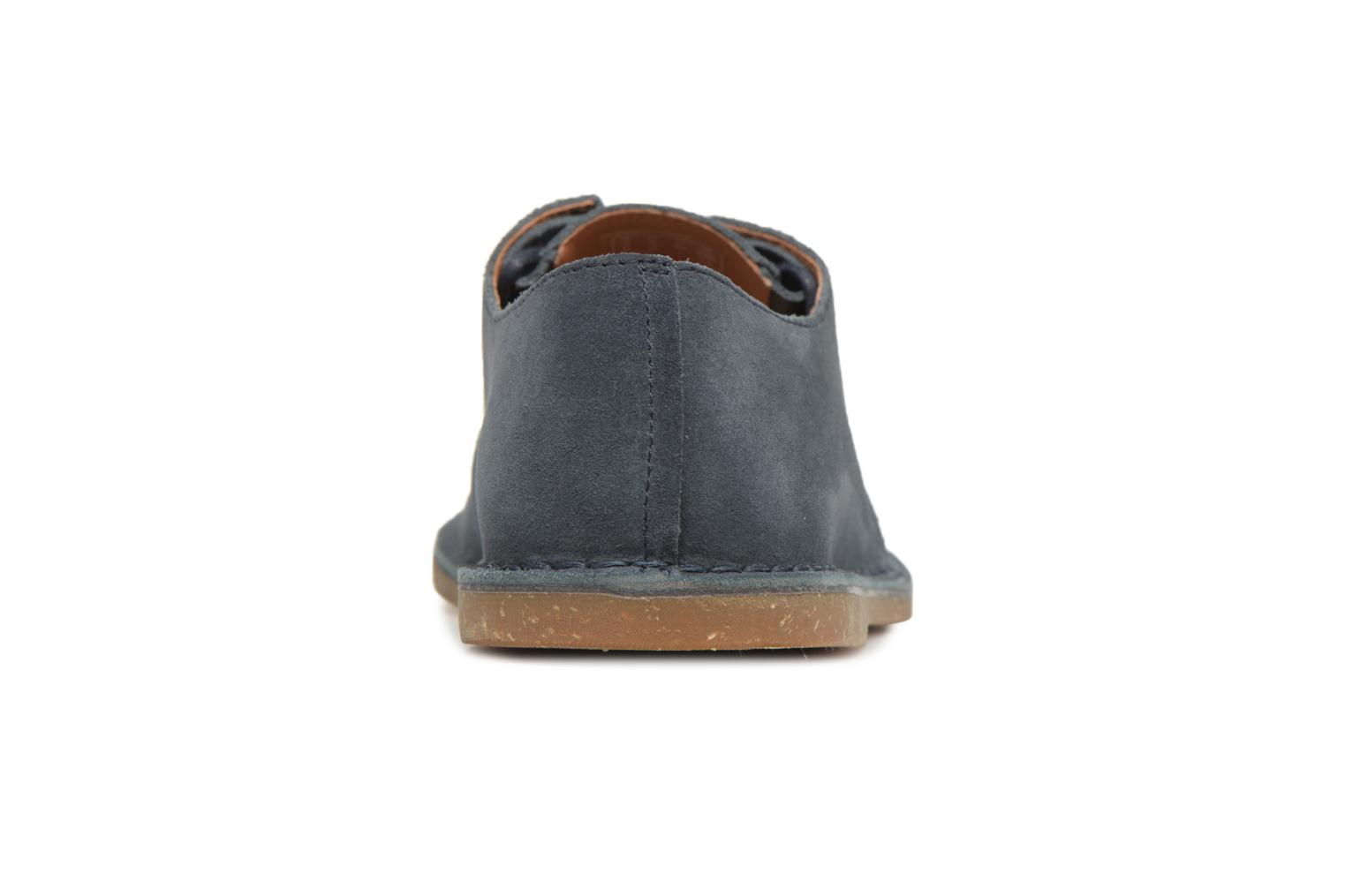 Lace-up shoes Clarks Baltimore Lace Blue view from the right