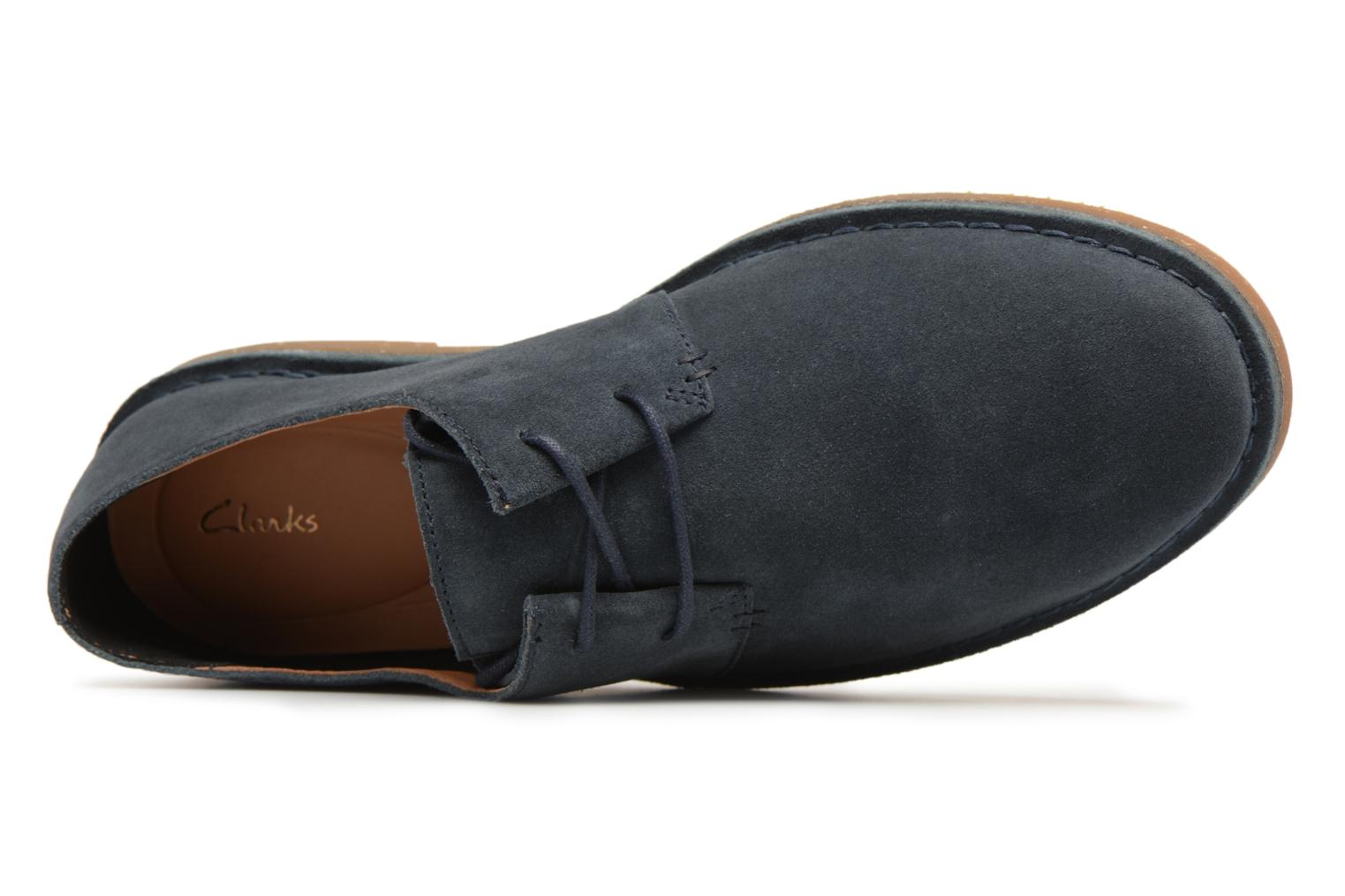 Lace-up shoes Clarks Baltimore Lace Blue view from the left