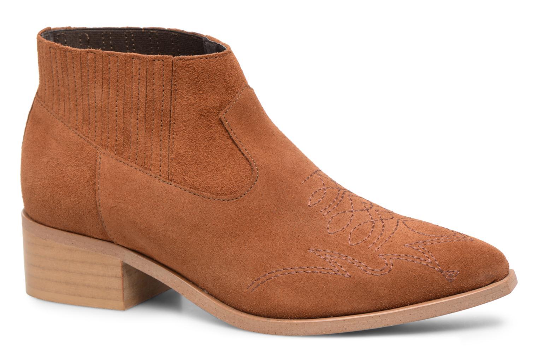 Zapatos promocionales Vero Moda TOBIA LEATHER BOOT (Marrón) - Botines    Descuento de la marca